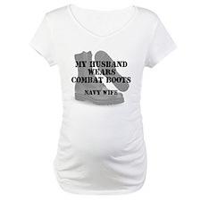 Navy Wife wears CB Shirt