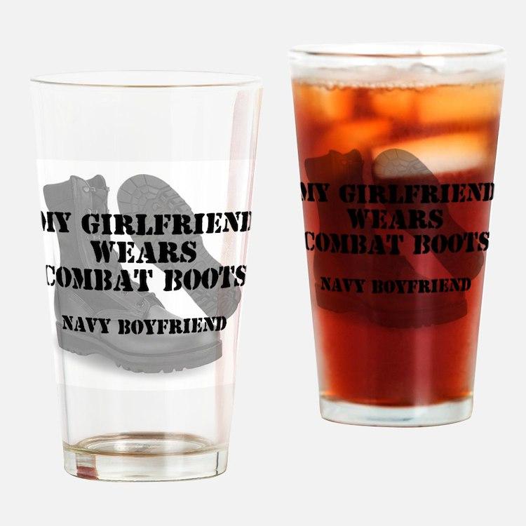 Navy Boyfriend wears CB Drinking Glass
