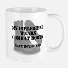 Navy Boyfriend wears CB Mugs
