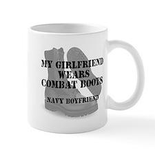 Navy Boyfriend wears CB Mugs