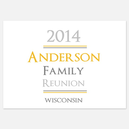 Personal Name Family Reunion Invitations