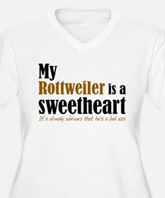 My rottie hes a sweetheart Plus Size T-Shirt