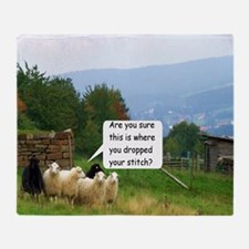 Drop Stitch Sheep Throw Blanket