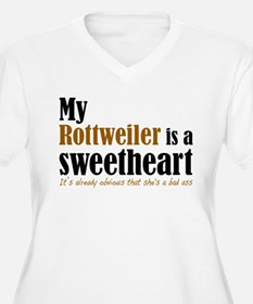 shes a sweetheart rottie Plus Size T-Shirt