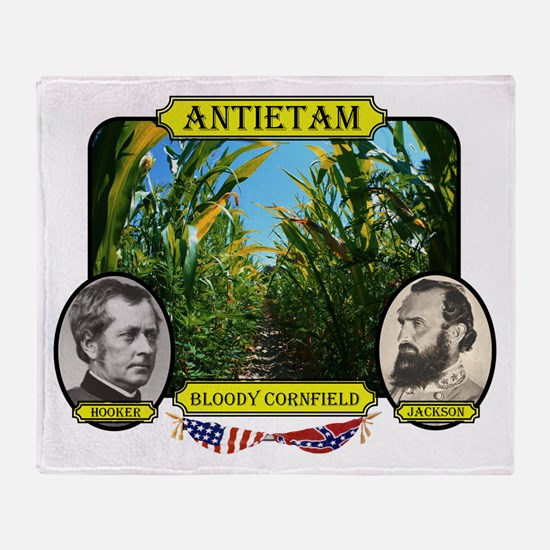 Antietam-Bloody Cornfield Throw Blanket