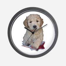 Cute Labradoodle puppy Wall Clock