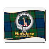 Fletcher clan tartan Mouse Pads