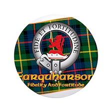 """Farquharson Clan 3.5"""" Button"""