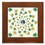 Hemp Planet Framed Tile