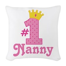 Nanny (Number One) Woven Throw Pillow