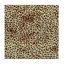 Cheetah pattern Tile Coaster