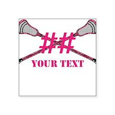 Lacrosse Pink Camo Sticks Crossed Personalize Stic