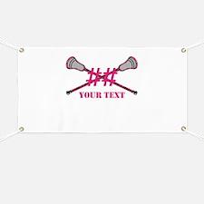 Lacrosse Pink Camo Sticks Crossed Personalize Bann
