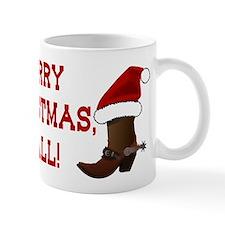 Santa Boot: Merry Christmas, Y'all! Mug