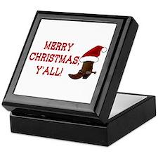 Santa Boot: Merry Christmas, Y'all! Keepsake Box