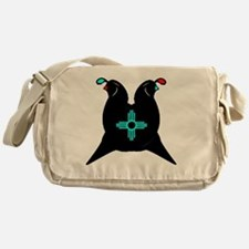 Two Quails and the sun Messenger Bag