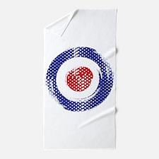 Retro look Mod target art Beach Towel