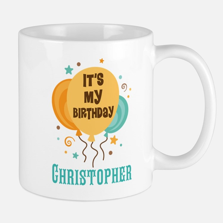 Personalized Birthday Balloon Party Mugs