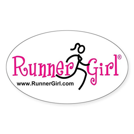 RunnerGirl Oval Sticker PBU