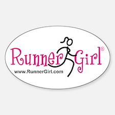 RunnerGirl Oval Sticker PBU