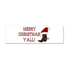 Santa Boot: Merry Christmas, Y'all! Car Magnet 10