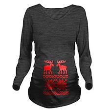 Moose Sweater Christmas Pattern Long Sleeve Matern