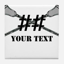 Lacrosse Camo Sticks Crossed Personalize Tile Coas