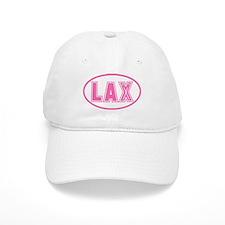 Lacrosse Pink Oval Baseball Baseball Cap
