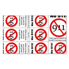 """""""No 911"""" sticker for VOIP phone Decal"""