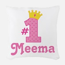 Meema (Number One) Woven Throw Pillow