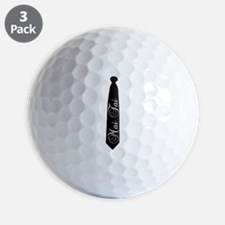 Mai Tai - MY Tie Black Necktie Golf Ball