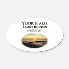 FAMILY PARTY Oval Car Magnet