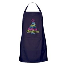 Sassy Christmas Word Tree Apron (dark)