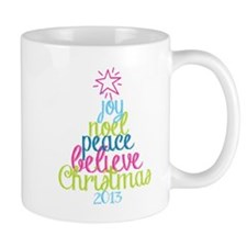 Sassy Christmas Word Tree Mugs