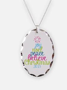 Sassy Christmas Word Tree Necklace