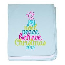 Sassy Christmas Word Tree baby blanket
