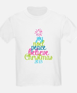 Sassy Christmas Word Tree T-Shirt