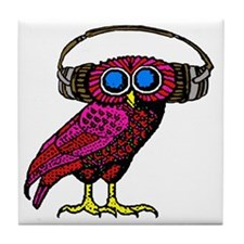 DJ HOOT Tile Coaster