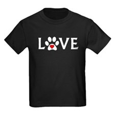 Dog Paw Print Love T-Shirt