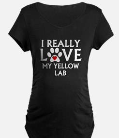 I Really Love My Yellow Lab Maternity T-Shirt
