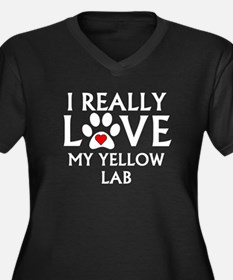 I Really Love My Yellow Lab Plus Size T-Shirt