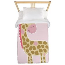 Pink Giraffe Girls Bedding Twin Duvet
