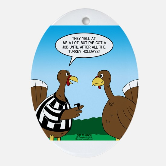 Turkey Referee Ornament (Oval)