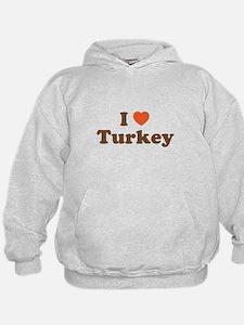 I Heart Turkey Hoodie