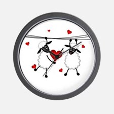 Hang on to Love Sheep Wall Clock