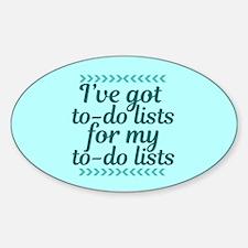 To Do Lists Sticker (Oval)