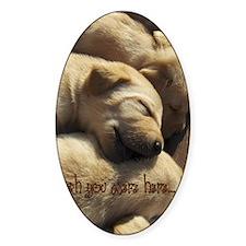 2-WishUWereHere_Labrador_Pups Decal