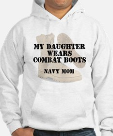Navy mom daughter wears DCB Hoodie