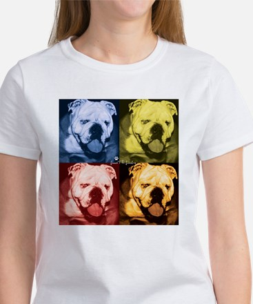 Technicolor Bulldog Women's T-Shirt