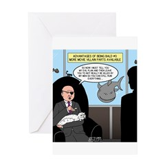 Bald Movie Villains Greeting Card
